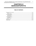 Volume 1, Chapter 2-3: Marchantiophyta