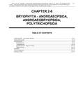 Volume 1, Chapter 2-6: Bryophyta - Andreaeopsida, Andreaeobryopsida, Polytrichopsida