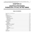 Volume 1, Chapter 4-2: Adaptive Strategies: Phenology, It's All in the Timing