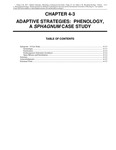 Volume 1, Chapter 4-3: Adaptive Strategies: Phenology, A Sphagnum Case Study