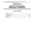 Volume 1, Chapter 4-4: Adaptive Strategies: Phenology Tradeoffs