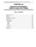 Volume 1, Chapter 4-5: Adaptive Strategies: Growth and Life Forms