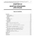 Volume 1, Chapter 4-6: Adaptive Strategies: Life Cycles