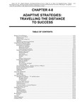 Volume 1, Chapter 4-8: Adaptive Strategies: Travelling the Distance to Success