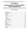 Volume 1, Chapter 5-2: Ecophysiology of Development: Spore Germination