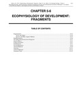 Volume 1, Chapter 5-6: Ecophysiology of Development: Fragments