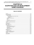 Volume 1, Chapter 5-8: Ecophysiology of Development: Gametogenesis