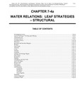 Volume 1, Chapter 7-4a: Water Relations: Leaf Strategies - Structural