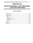 Volume 1, Chapter 7-4b: Water Relations: Leaf Strategies - Cuticles and Waxes