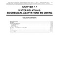 Volume 1, Chapter 7-7: Water Relations: Biochemical Adaptations to Drying