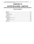Volume 1, Chapter 7-8: Water Relations: Habitats