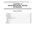 Volume 1, Chapter 7-9: Water Relations: Winter Physiology
