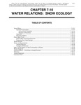 Volume 1, Chapter 7-10: Water Relations: Snow Ecology