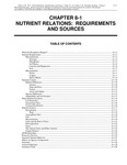 Volume 1, Chapter 8-1: Nutrient Relations: Requirements and Sources