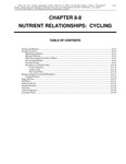 Volume 1, Chapter 8-8: Nutrient Relations: Cycling