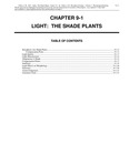 Volume 1, Chapter 9-1: Light: The Shade Plants