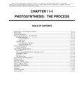 Volume 1, Chapter 11-1: Photosynthesis: The Process