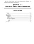 Volume 1, Chapter 11-2: Photosynthesis: Photoinhibition