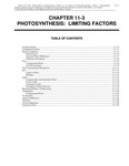 Volume 1, Chapter 11-3: Photosynthesis: Limiting Factors