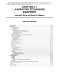 Volume 3, Chapter 2-1: Laboratory Techniques: Equipment