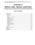 Volume 5, Chapter 2-1: Medical Uses: Medical Conditions