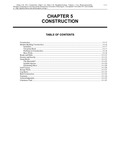 Volume 5, Chapter 5: Construction