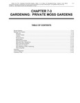 Volume 5, Chapter 7-3: Gardening: Private Moss Gardens