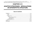 Volume 1, Chapter 4-13: Adaptive Strategies: Speculation on Sporophyte Structure
