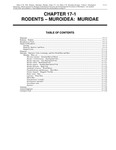 Volume 2, Chapter 17-1: Rodents - Muroidea: Muridae