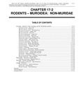 Volume 2, Chapter 17-2: Rodents - Muroidea: Non-Muridae