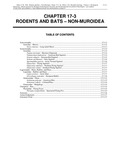 Volume 2, Chapter 17-3: Rodents and Bats - Non-Muroidea