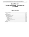 Volume 2, Chapter 18-1: Large Mammals: Ruminants - Cervidae