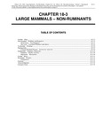 Volume 2, Chapter 18-3: Large Mammals: Non-Ruminants