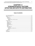 Volume 4, Chapter 2-1: Stream Physical Factors Affecting Bryophyte Distribution