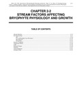 Volume 4, Chapter 2-2: Stream Physical Factors Affecting Bryophyte Physiology and Growth