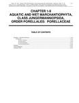 Volume 4, Chapter 1-9: Aquatic and Wet Marchantiophyta, Class Jungermanniopsida, Order Porellales: Porellaceae