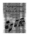 Ecological Studies of Wolves on Isle Royale, 1994-1995