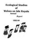 Ecological Studies of Wolves on Isle Royale, 1993-1994