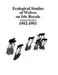 Ecological Studies of Wolves on Isle Royale, 1992-1993