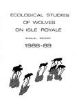 Ecological Studies of Wolves on Isle Royale, 1988-1989