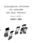Ecological Studies of Wolves on Isle Royale, 1987-1988